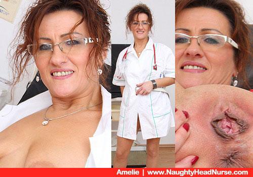 Ältere Krankenschwester Pussy-Prüfung