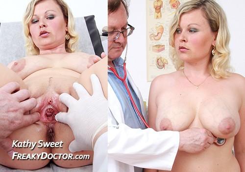 Großbrüstige Blondine besucht die Fick-klinik