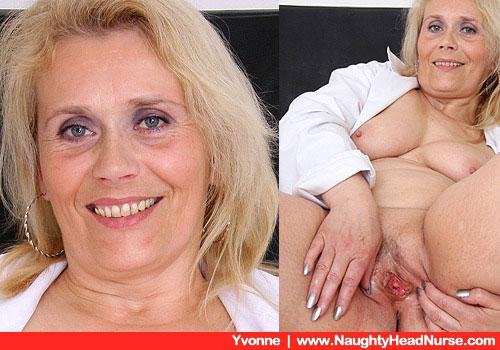 Yvonne Eigenliebt in ihrem sexy weißen Krankenschwester-Outfit